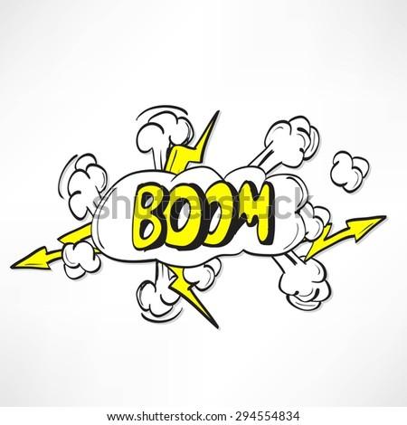 Comic book explosion - stock vector