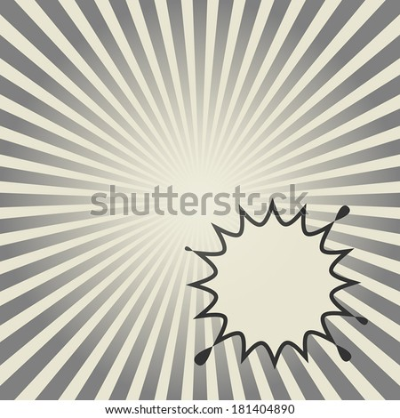 Comic book explosion abstract, vector illustration - stock vector