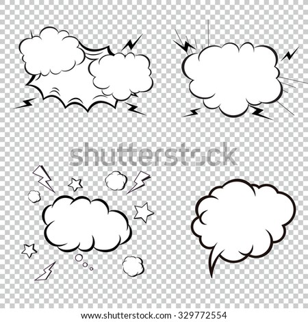 Comic Book Explosion, Bombs And Blast Set, cartoon fire bomb, bang and exploding. Pop art style. - stock vector