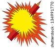 Comic book explosion boom, vector illustration - stock vector