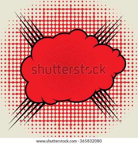 Comic book explosion, vector illustration - stock vector