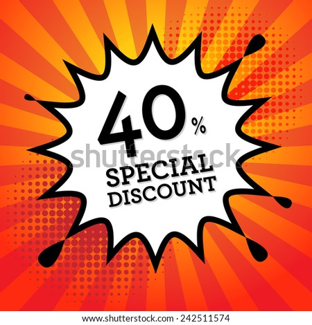 Comic book explosion with text Special Discount, vector illustration - stock vector