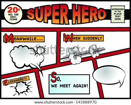 Comic Book Page/Ready for your editing!!! - stock vector