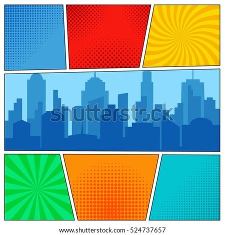 Comic book stock images royalty free images vectors for Comic book template powerpoint
