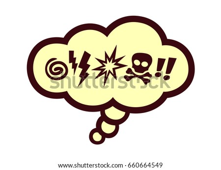 Comic Book Speech Bubble Swear Words Stock Vector 660664549