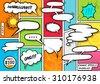 comic book speech bubbles. a...
