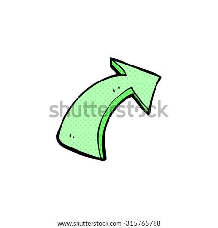 comic book style cartoon pointing arrows - stock vector