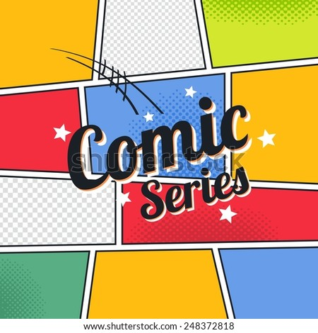 Comic Book Template Series Stock Vector   Shutterstock