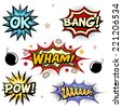 Comic book vector elements - stock vector