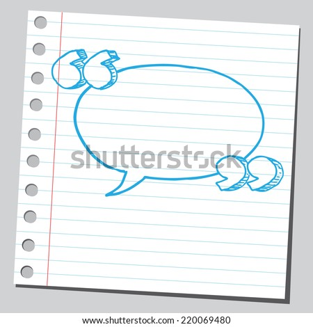 Comic bubble with speech quotes - stock vector