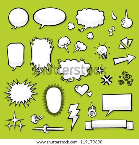 Comic Elements - stock vector