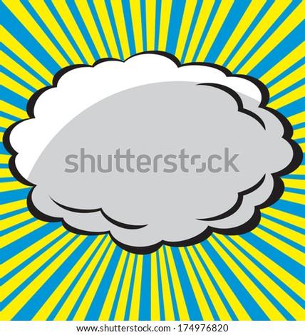 Comic  explosion design, vector illustration - stock vector