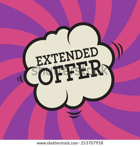 Comic explosion with text Extended Offer, vector illustration - stock vector