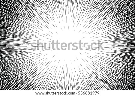Comic Hand Drawn Radial Lines Background Sun Rays Or Star Burst Element Zoom Effect Square Fight