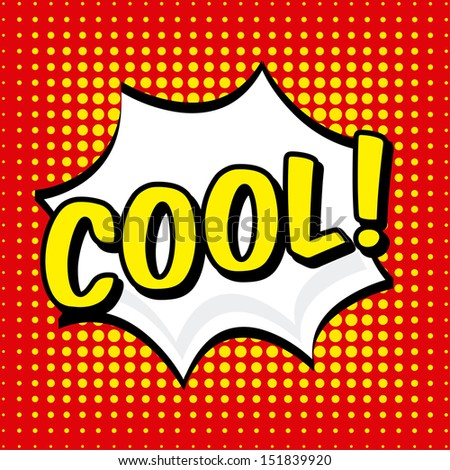 comic icon over dotted background vector illustration  - stock vector