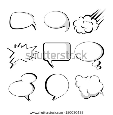 comic icons over white background vector illustration - stock vector