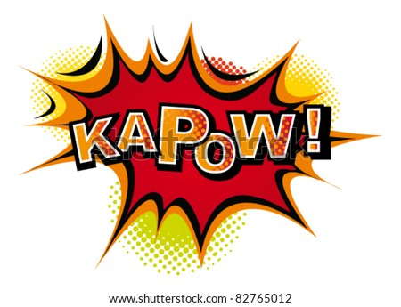 Comic-KAPOW. Vector - stock vector