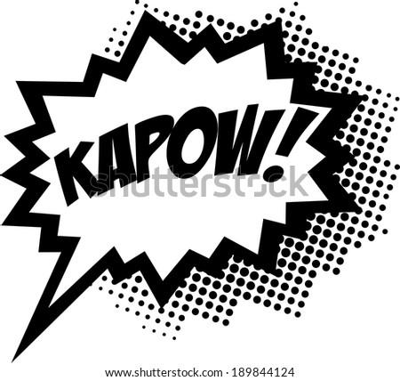 COMIC POW! Speech Bubble, Comic Book Explosion, Cartoon - stock vector