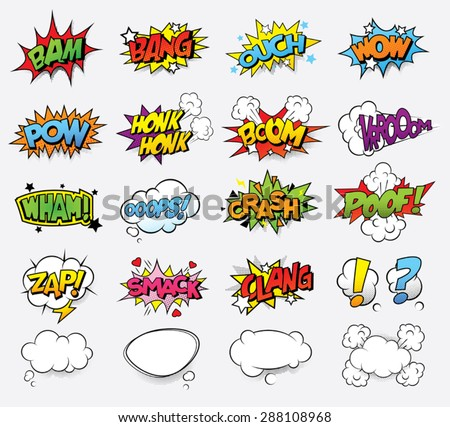 Comic sound effects - stock vector
