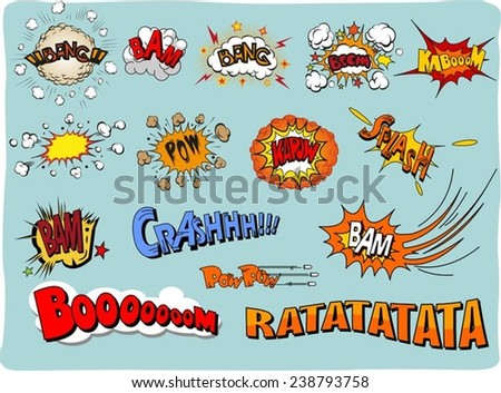 comic sound Effects collection   - stock vector