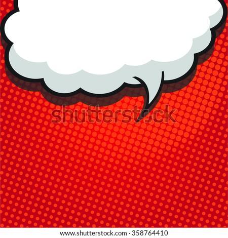 Comic speech bubble, comic background - stock vector