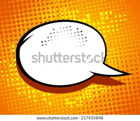 Comic speech bubble in pop-art style. - stock vector