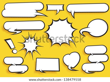 Comic Speech Bubble Set  - stock vector