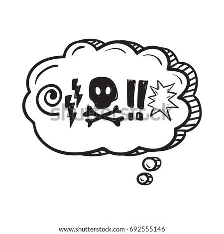 Comic Speech Bubble Swear Words Symbols Vector de stock (libre de ...