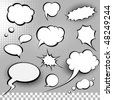 comic speech bubbles - stock photo