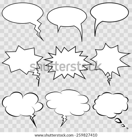 Comic speech bubbles and comic strip background vector illustration. - stock vector