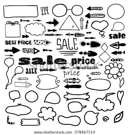 Comic speech bubbles and design elements - stock vector