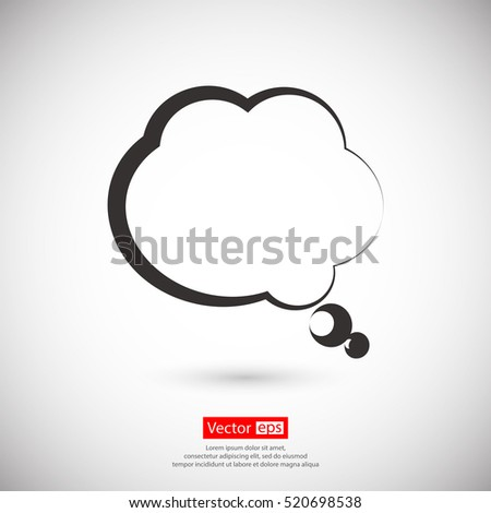 comic speech bubbles icon, vector illustration. Flat design style