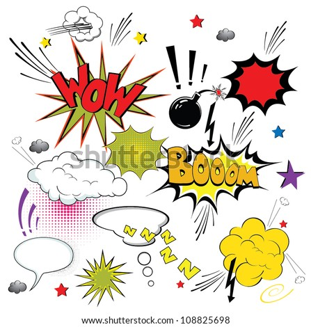 Comic speech bubbles. Vector - stock vector