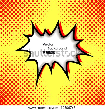 Comic style speech bubble - stock vector