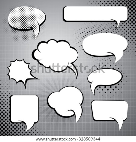 Comic Style Speech Bubble Collection - stock vector