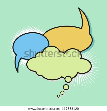 Comic style speech bubbles collection. - stock vector