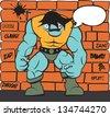 Comic superhero monster - stock vector