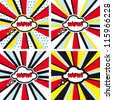 Comic vector backgrounds set WOW Pop Art - stock vector