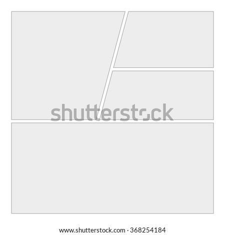 Comics blank layout template background. Vector Page 1 - stock vector