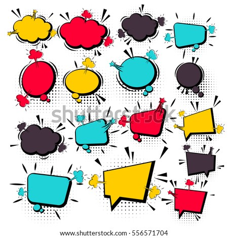 Comics Book Background Blank Template Comic Stock Vector 556571704