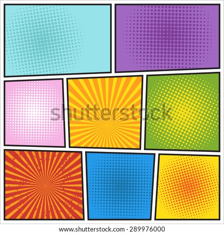 Comics book background. Different colors - stock vector