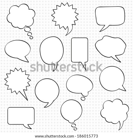 Comics speech bubbles. Infographic design with communication clouds.