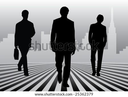 Coming businessmen - stock vector