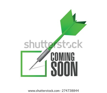coming soon check dart sign concept illustration design over white