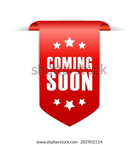 Coming soon ribbon - stock vector