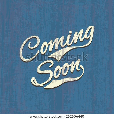 Coming soon, sale poster, vector image illustration - stock vector