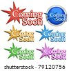 Coming soon signs. Vector illustration - stock vector