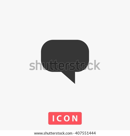 comment Icon.  - stock vector