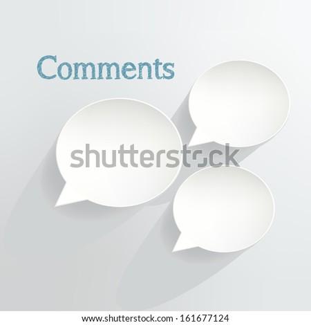 Comments Speech Bubbles - stock vector