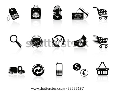 Commerce and retail icons - stock vector